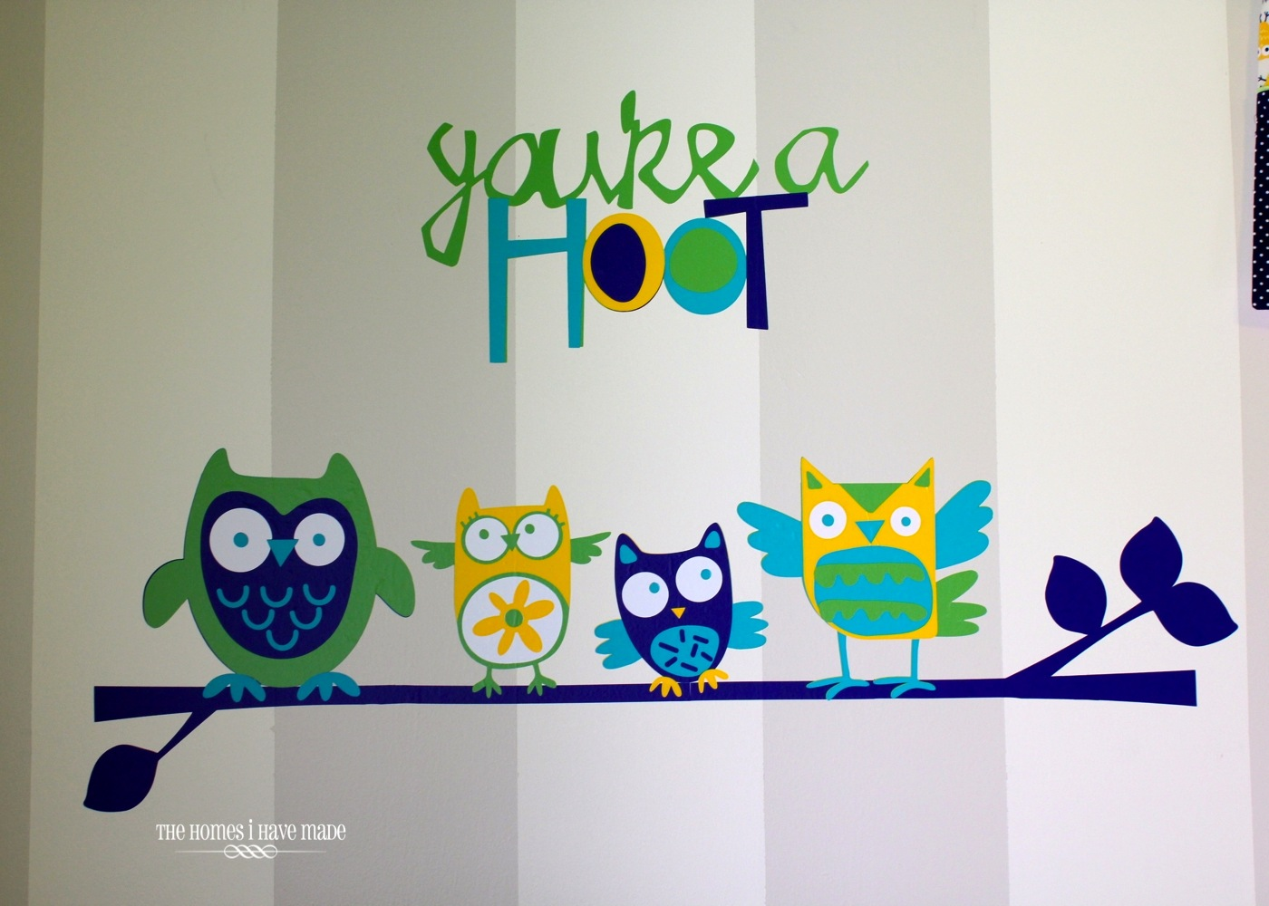 DIY Owl Wall Decals {Little Boy Room Project} | The Homes ...