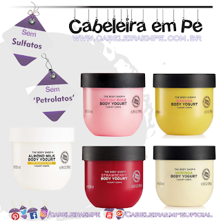 Body Yogurts Morango, Banana, Moringa, Rosas Inglesas e Leite de Amêndoas - The Body Shop (Sem Petrolatos)