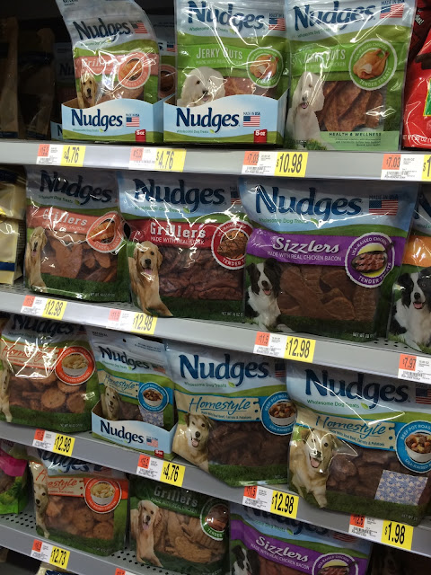 Nudges Wholesome dog treats available at walmart