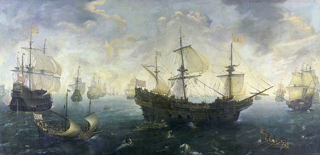 Cornelis van Wieringen, The Spanish Armada off the English coast