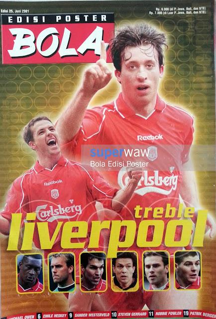 Bola Edisi Poster - Treble Liverpool