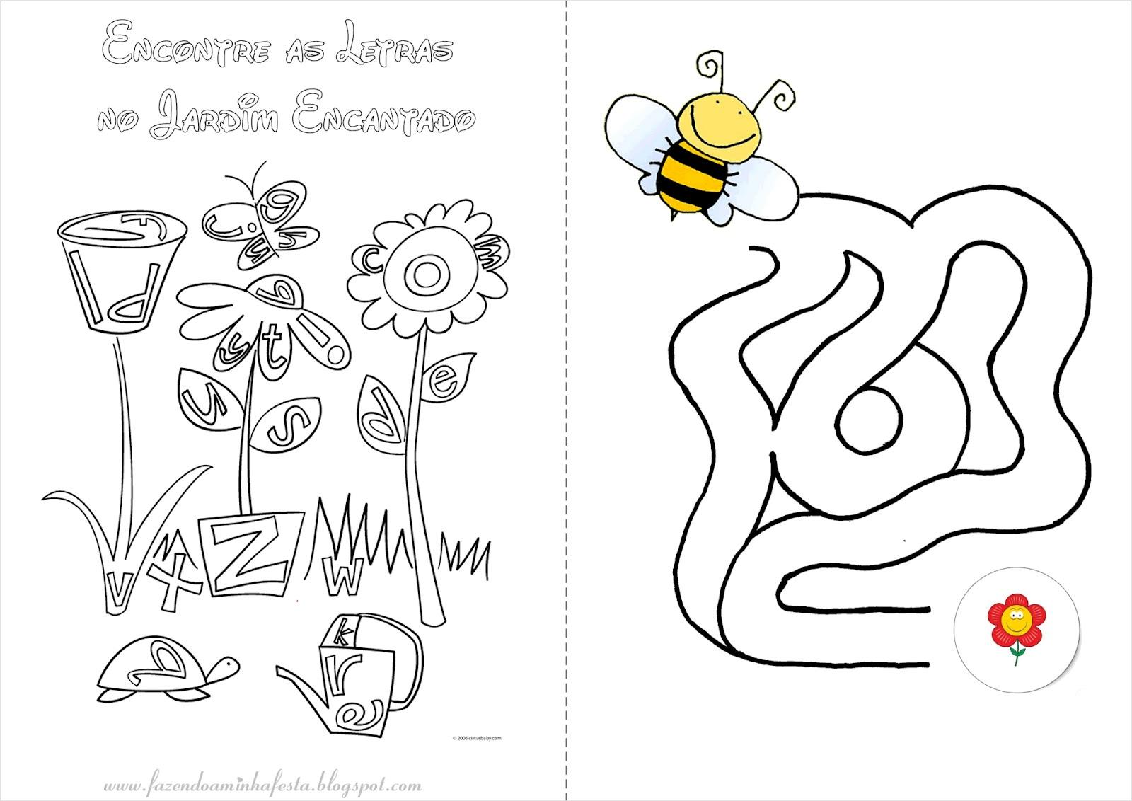 Desenho De Letra Z De Zoológico Para Colorir: Colorir: Jardim Encantado