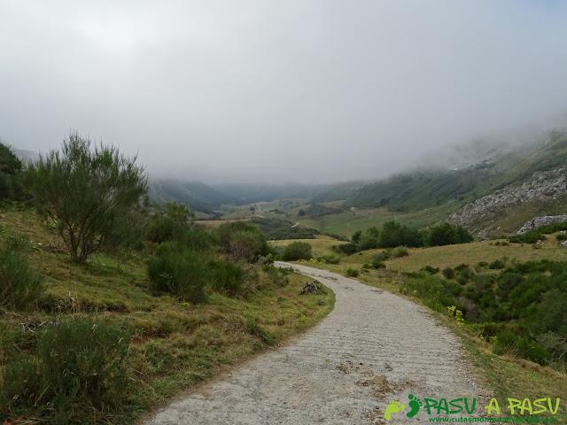 Ruta a Peña Chana: Pista de la ruta del Valle del Lago