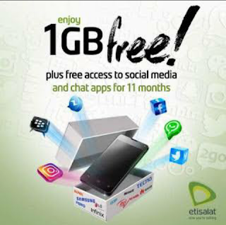 How To Get Free Mb On Etisalat 2016 : Get 1gb Free Now