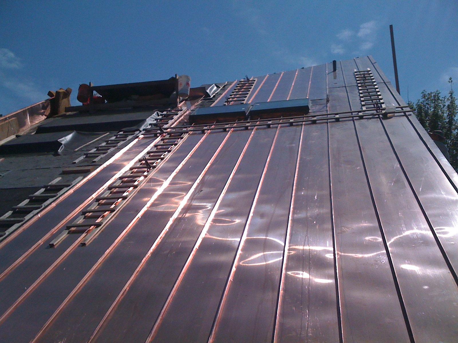 Architectural Sheet Metal Work Copper Roof Standing Seam