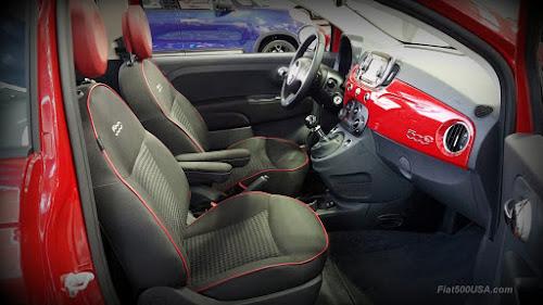 Fiat 500 Pop Cabrio Interior
