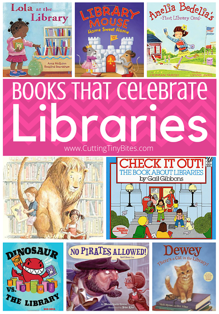 Books that celebrate libraries! If you're a teacher or parent to young children, you probably spend plenty of time at the library! Help your kids learn to love the library, too, with this book review list that has choices for toddlers, preschoolers, and elementary children.