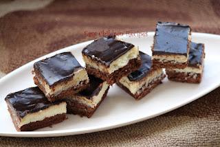 CHOCOLATE COCONUT BARS / THREE LAYERED CAKE / CHOCOLATE COCONUT LAYER CAKE