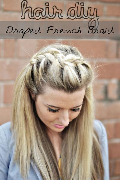 Hair Diy Drape French Braid The Shine Project