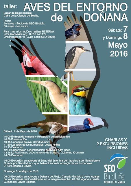 XVI Curso de Iniciación a la Ornitología, edición 2016. Grupo Local Seo-Sevilla.