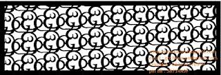 desain panel GRC krawangan aksara Bali Ang
