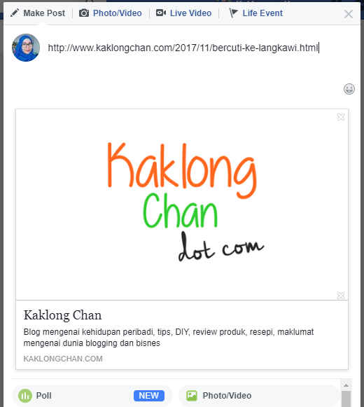 how to change url thumbnail in facebook