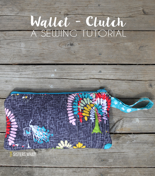 Such a fun wallet clutch tutorial, make with any fabric