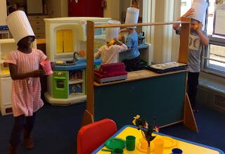 Atonement Lutheran Preschool: Pretend play in a restaurant ...