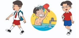 mandi dulu sebelum berangkat sekolah