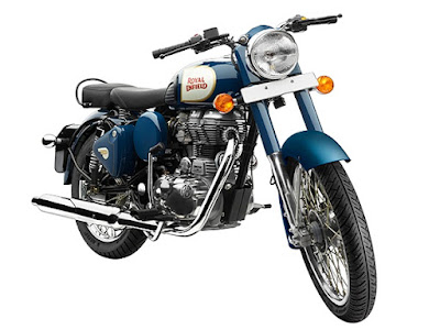 Royal Enfield Classic 350 blue motorcycle