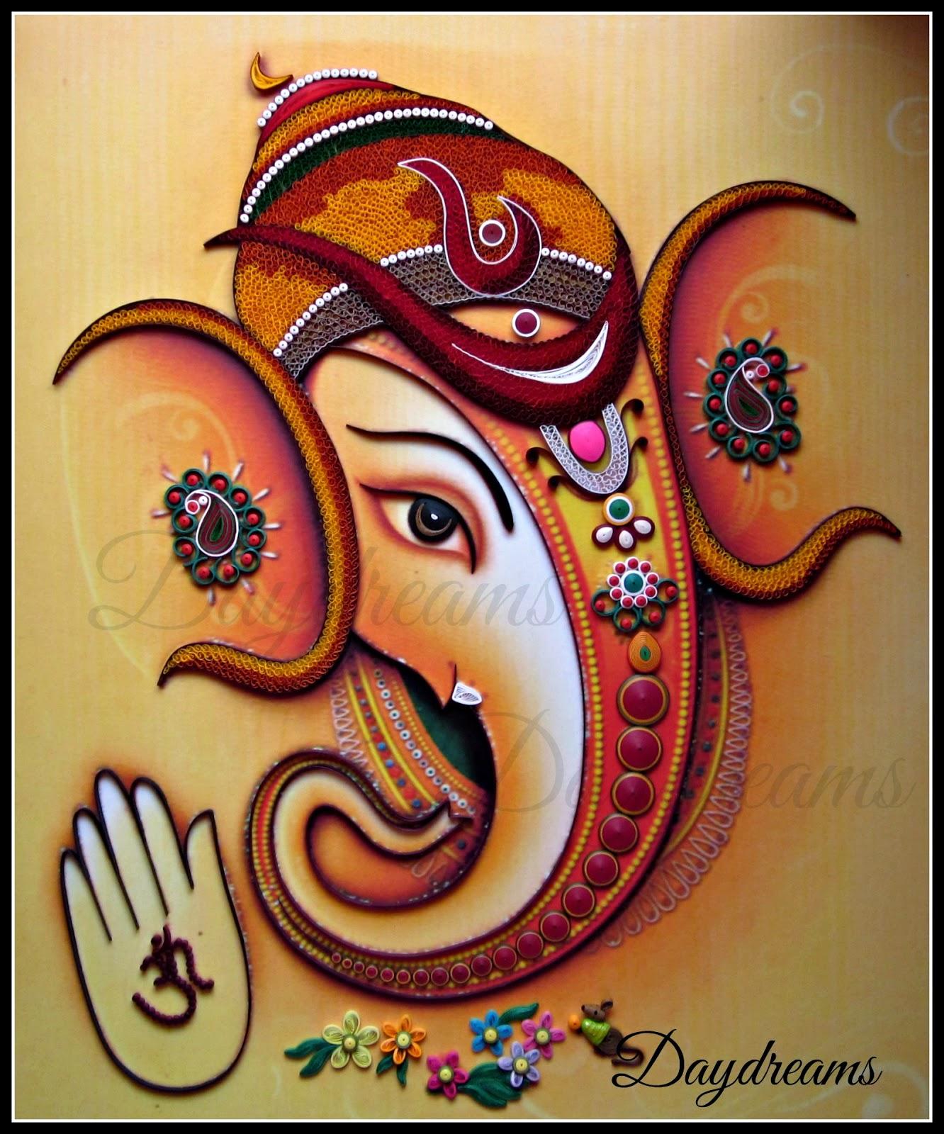 DAYDREAMS: Quilled Ganesha.