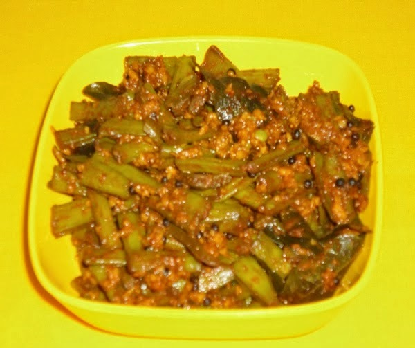 serve the cluster beans sabzi hot