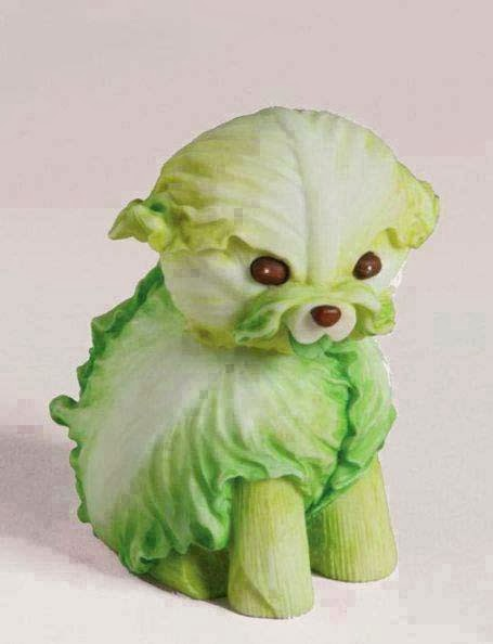 nice dog made from cabbage