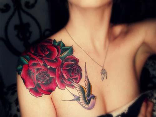 kadın omuz dövmeleri woman shoulder tattoos 29
