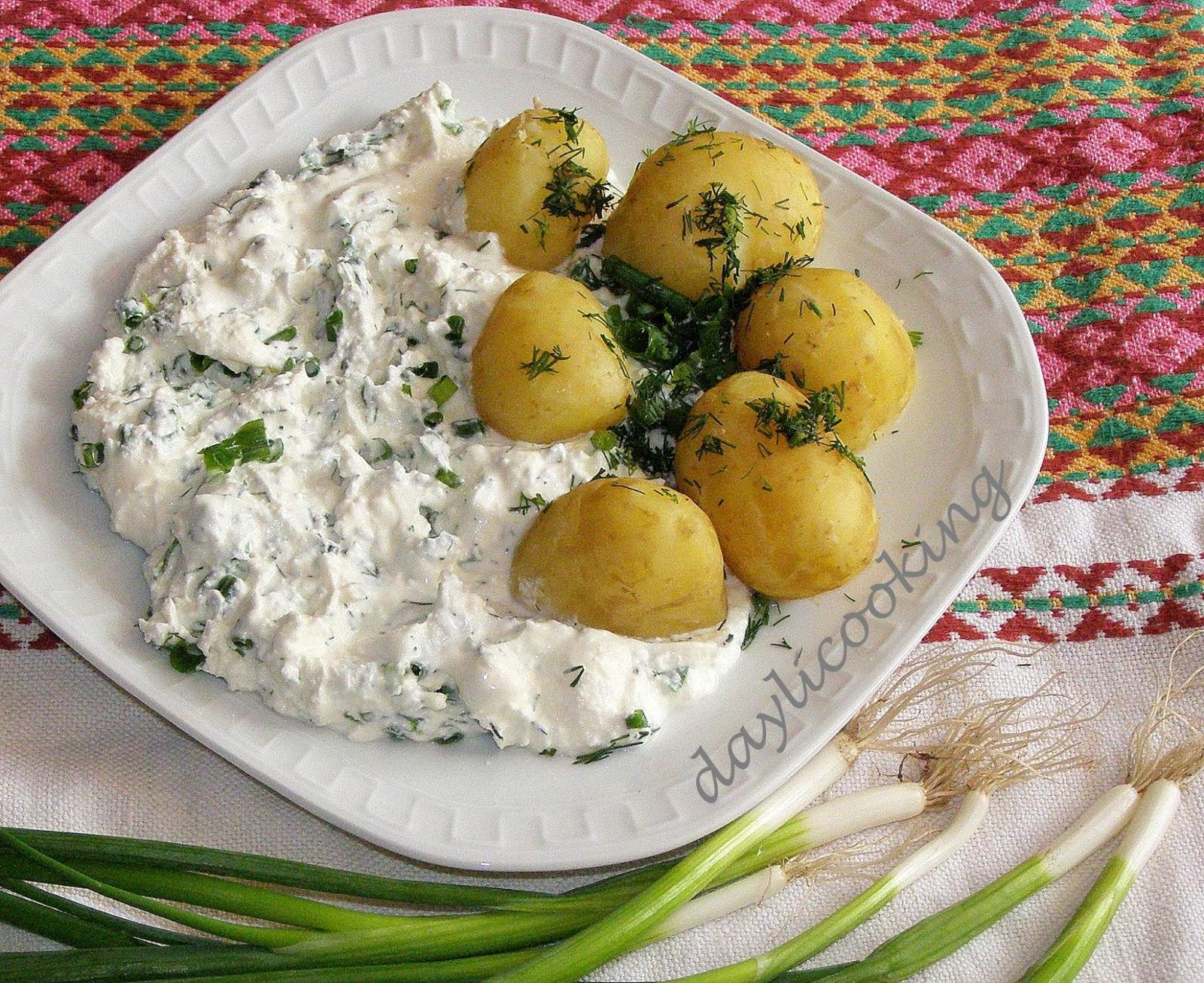 wielkopolskie regionalne danie, ziemniaki z twarożkiem, daylicooking