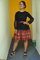 Aditi Myakal in Spicy Red Short Skirt and Transparent Black Top at at Big FM For Promotion of Movie Ami Tumi 082.JPG