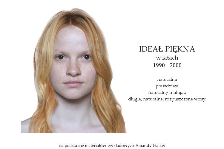 Agnieszka Sajdak-Nowicka ideał piękna w latach dziewięćdziesiątych 1990 - 2000 na podstawie materiałów wykładowych Amandy Hallay