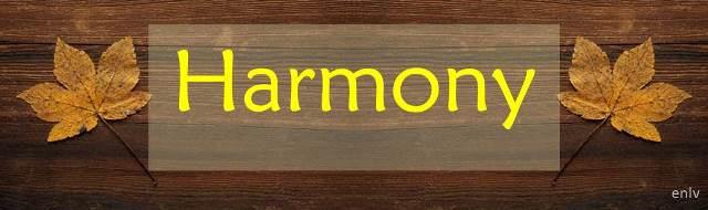 Weekly Single Word Inspiration: Harmony - Esther Neela Blog
