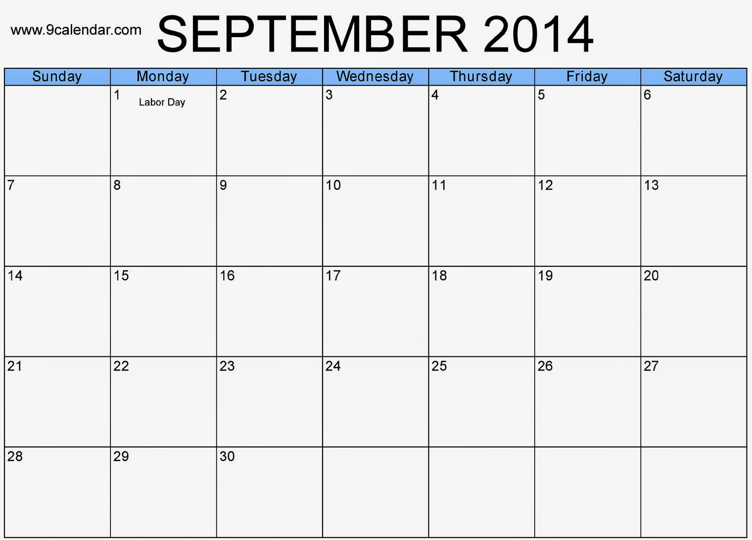 free printable calendar 2018  download september 2014 calendar