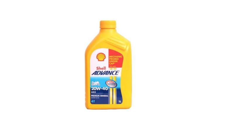 gambar oli Shell Advance AX5 terbaik untuk Megapro
