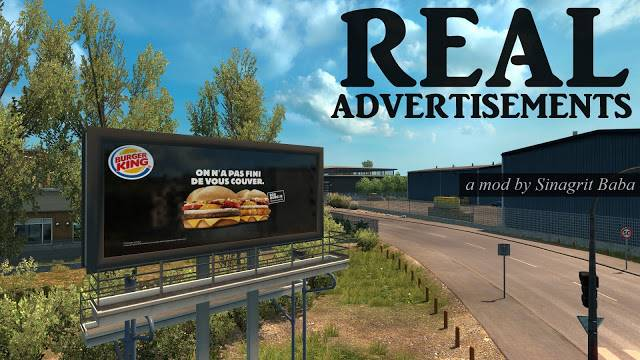 sinagrit baba ets 2 mods, ets 2 real advertisements