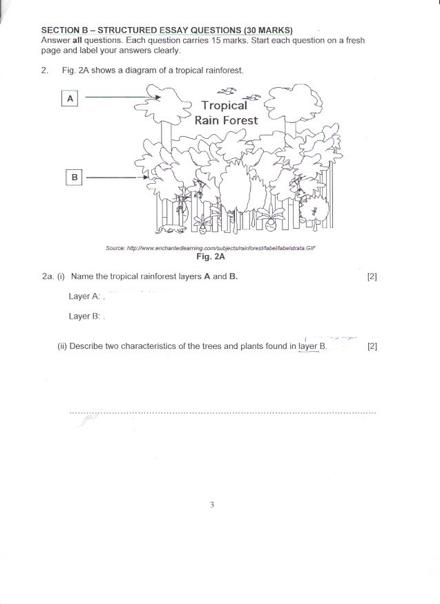 2016 S1-03 Class Blog: Soft Copy Revision papers (Geography and Science)