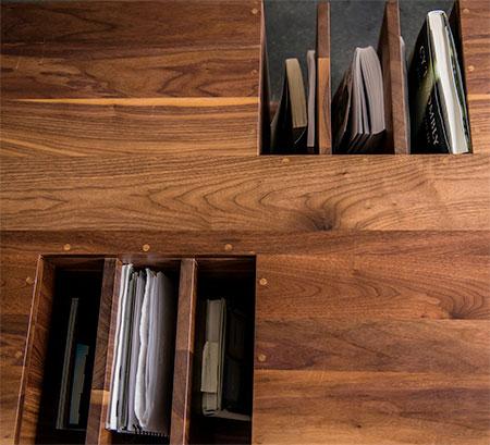 Wooden Bookshelf Table Top