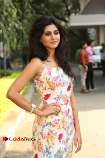 Actress Shamili Stills in Floral Short Dress at Sree Ramaraksha Song Launch 0094