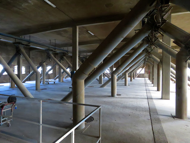 The hall above the granary silos, Via Pisa, Livorno
