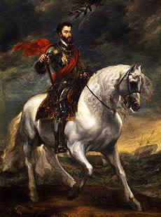 Charles V on horse back