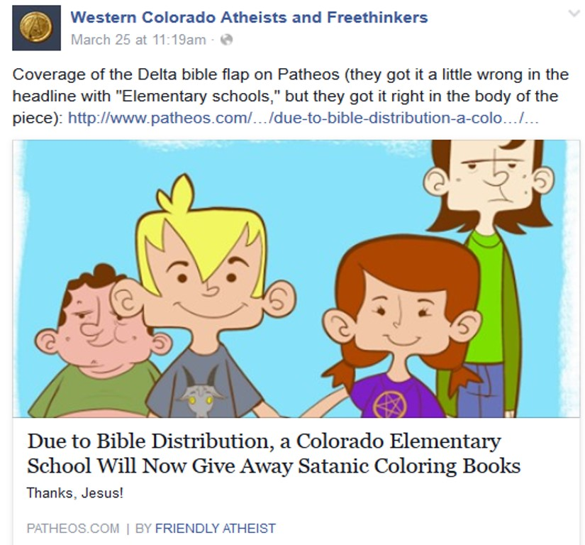 you cant make this up atheists and satanists team up on april 1st - X Rated Coloring Books