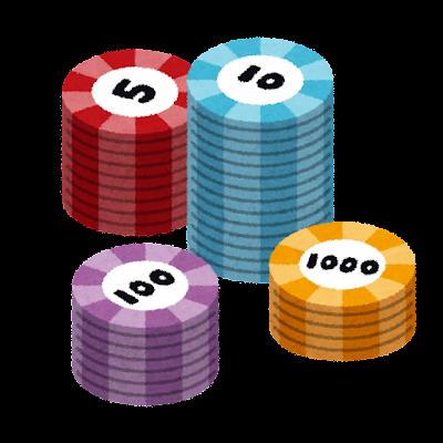 カジノのチップのイラスト