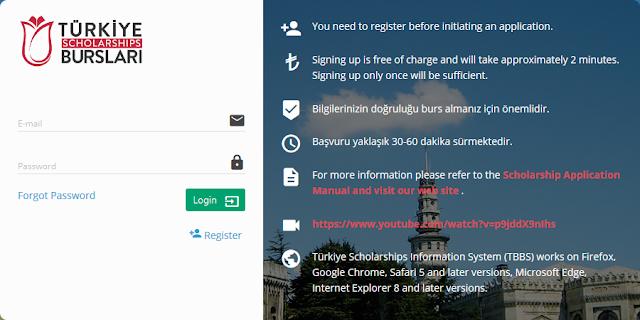 منحة الحكومة التركية 2019 | سجل الان