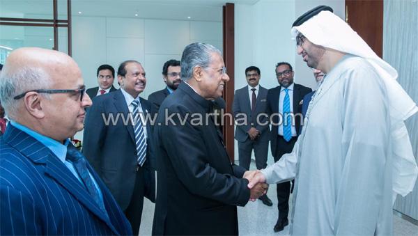 Kerala CM Met with UAE minister Sultan Ahmed Jaber, Abu Dhabi, Gulf, Chief Minister, Minister, UAE, News, Pinarayi Vijayan.