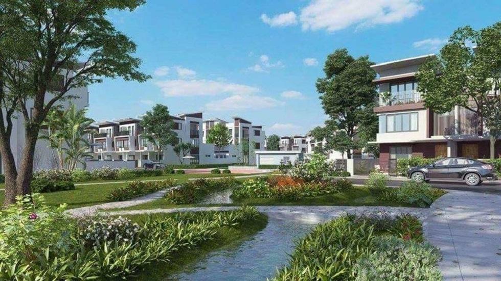 Dự án được bố trí suối nước giúp không gian thêm sinh động vốn Yên tĩnh tại dự án Gamuda Gardens