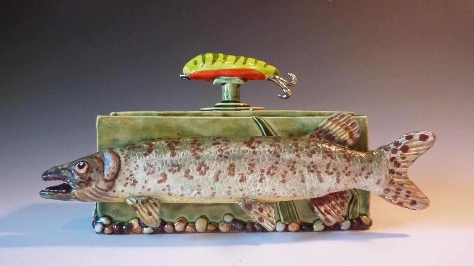 Musky Fish Urn, Keepsake Fish Urn