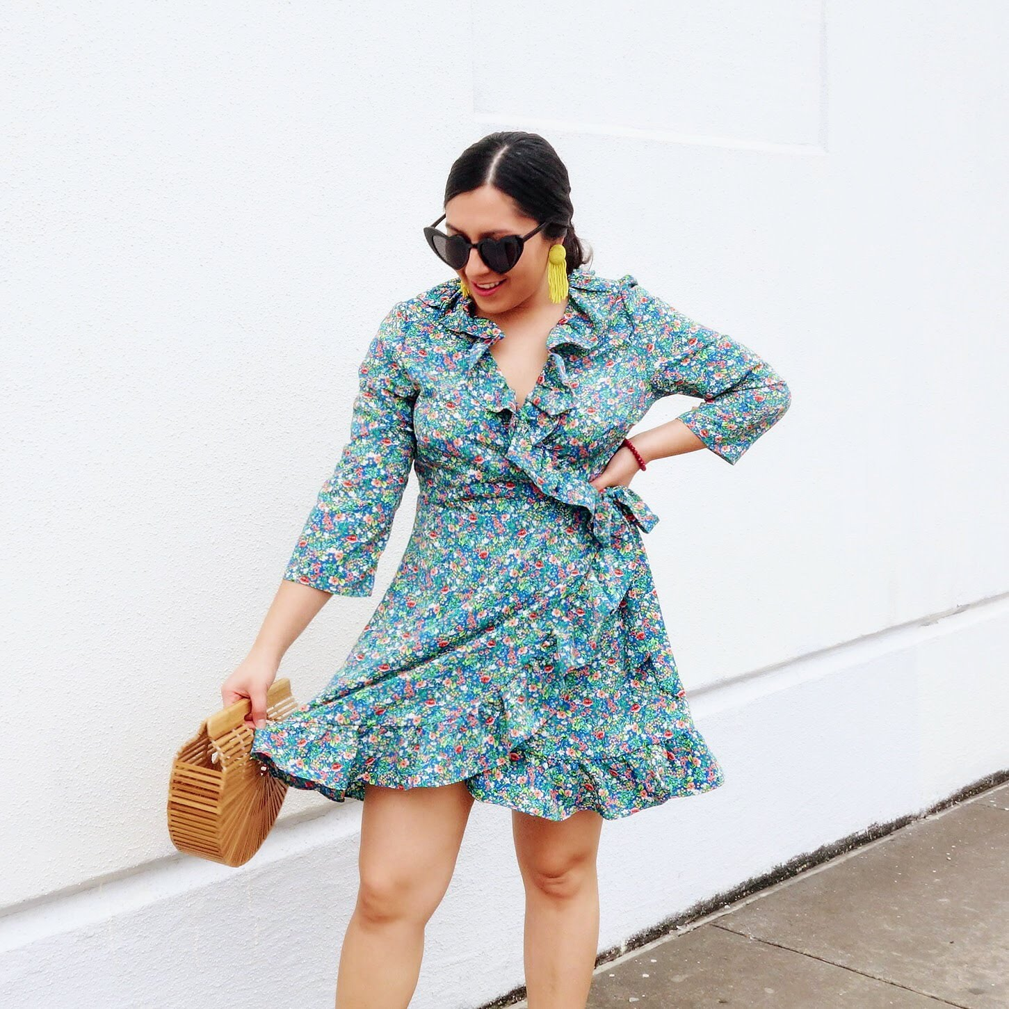 Spring Dress, Spring Obsessions, Splurge vs Steal, wrap dress outfit