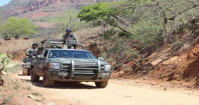 Atacan convoy con 21 militares en Badiraguato, Sinaloa dejando un militar muerto y dos mas heridos