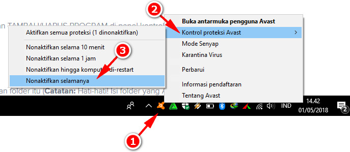 Cara Menghapus Avast Windows 10