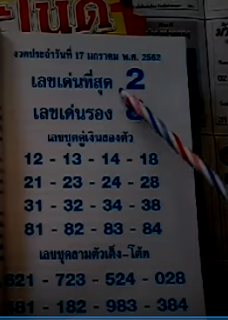 Thailand Lottery 3up Like Pointers For sixteen-01-2019 | VIP Formulas