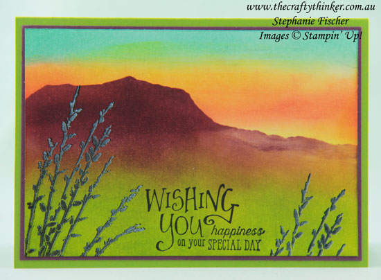 #thecraftythinker #stampinup #masculinecard  #cardmaking  #sponging #countryroad , Masculine Card, Country Scene, Country Road, Sponging, Stampin' Up Australia Demonstrator, Stephanie Fischer, Sydney NSW