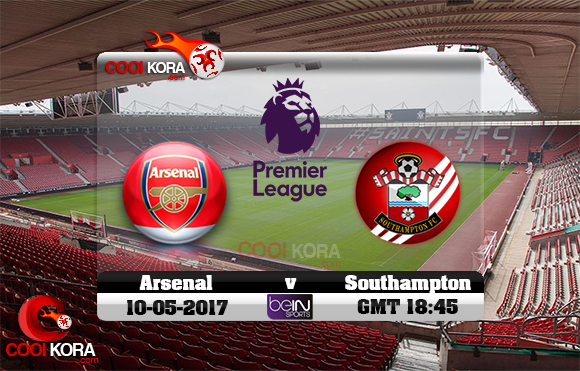 مشاهدة مباراة ساوثهامبتون وآرسنال اليوم 10-5-2017 في الدوري الإنجليزي