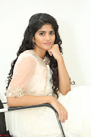 Megha Akash in beautiful Cream Transparent Anarkali Dress at Pre release function of Movie LIE ~ Celebrities Galleries 087.JPG