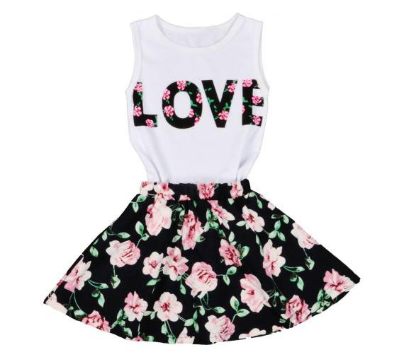 Vestido floral niña